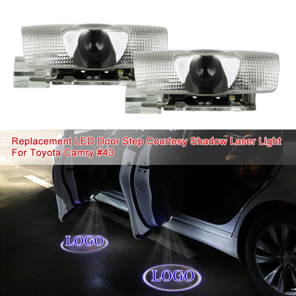 2X Car LED Door Welcome Logo Laser Projector Ghost Shadow Light For Toyota Camry Avalon Sienna Limited Venza Tundra Prius/Prius bluetooth link car kit with aux in interface for toyota corolla camry avensis hiace highlander mr2 prius rav4 sienna yairs venza