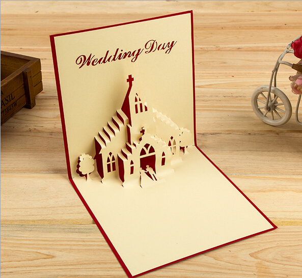 Cards & Invitations 10pcs 3d Creative Big Ben Handmade Kirigami Origami Wedding Party Invitation Cards Greeding Birthday Card Postcard Latest Fashion Festive & Party Supplies