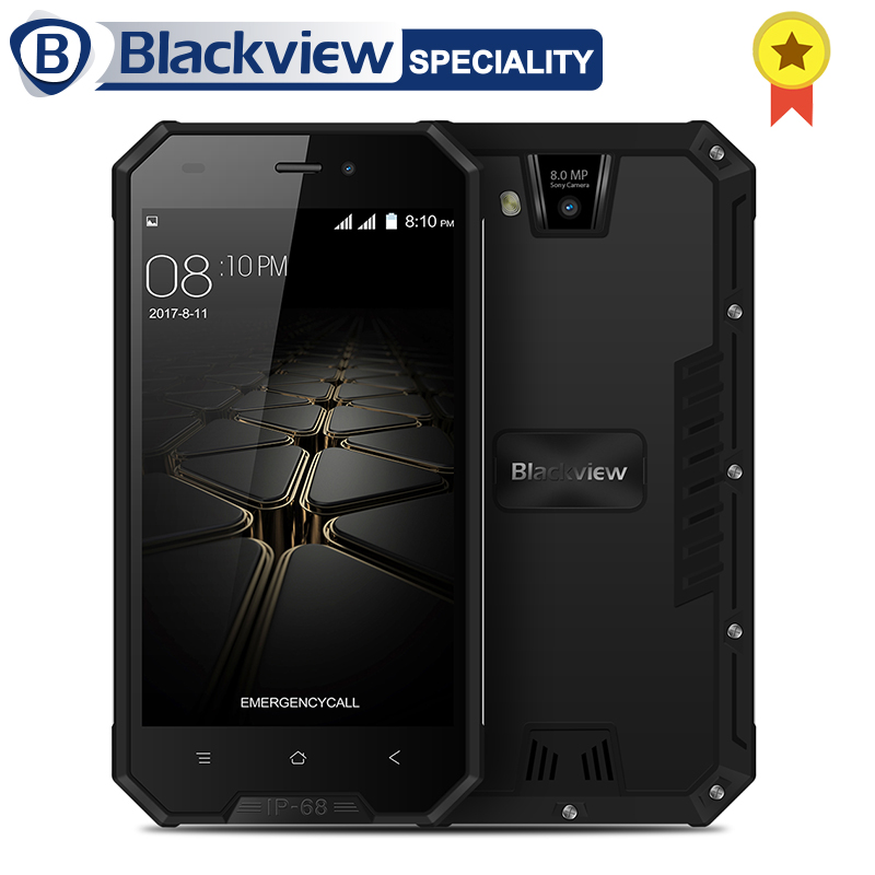 Blackview BV4000 Pro Smartphone IP68 Waterproof MT6580A Quad Core 4.7 Inch Android 7.0 CellPhone 2GB RAM 16GB ROM 8MP 3G Phone
