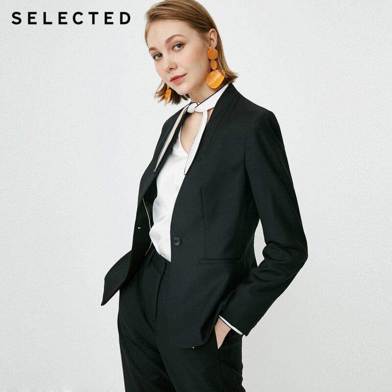 Selected women's wool blend 비즈니스 캐주얼 정장 자켓 s  418372508-에서블레이저부터 여성 의류 의  그룹 1
