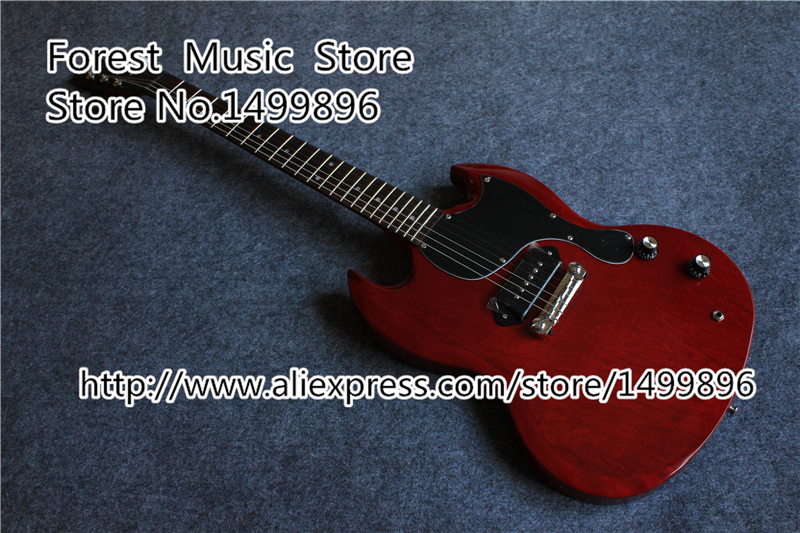 Wholesale & Retail Faded Cherry Single P-90 Style Pickup SG Guitarra Electrica China Free Shipping Left Handed Available цена