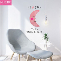 3D moon heart smiling face acrylic Wall stickers living room bedroom children's room TV sofa background decoration Wall stickers