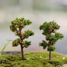 8 Types Mini Garden Ornament Miniature Resin Tree Figurine Craft Plant Pot Fairy Garden Decor