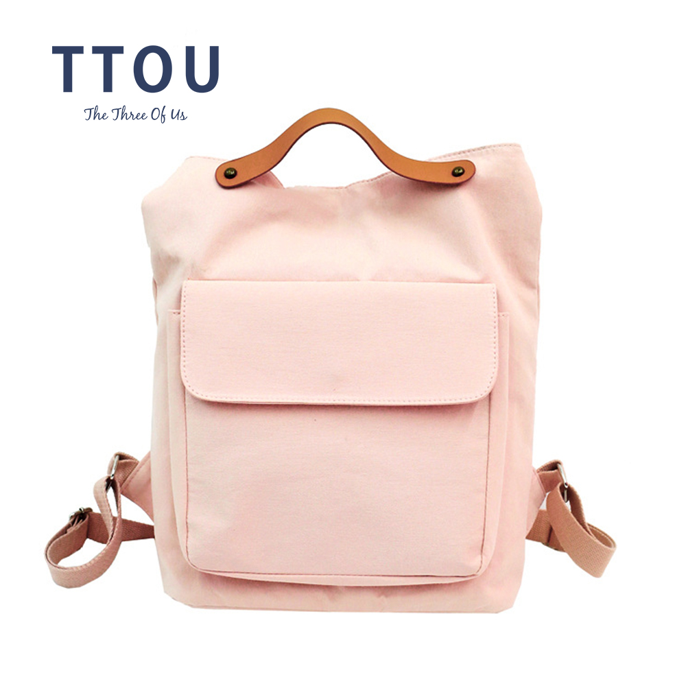 TTOU Large Lady Fashion Kanken Backpack Women School Backpacks Girl Casual daypacks Female Black Mochila Multifunctional 2018 korean new female oxford school backpack brand laptop backpack women kanken backpack fashion lady shoulder mochila travel