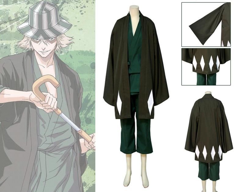 Bleach Urahara Kisuke Halloween Cosplay Costume For Men Free Shipping