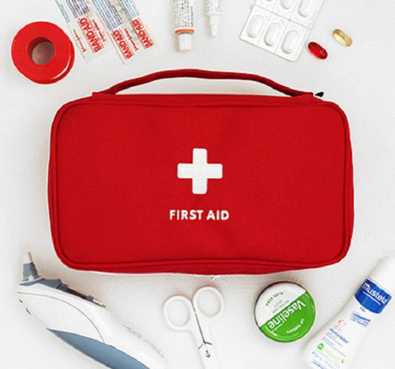Portable Medium Empty Household Multi-Layer First Aid Kit Pouch Outdoor Car Bag First Aid Bag Survival Medine Travel Rescue Bag(China)