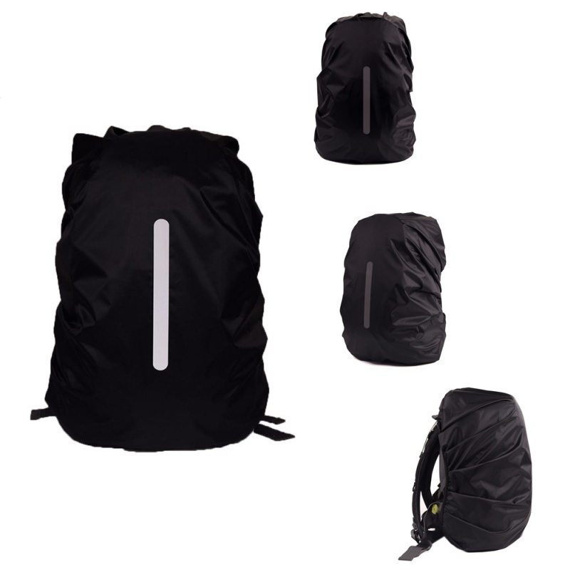 Reflective Waterproof Backpack Dust Rain Cover Outdoor Night Safety Light Raincover Case Bag