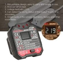 цена на HABOTEST HT106B Socket Testers Voltage Test Socket detector AU Plug Ground Zero Line Plug Polarity Phase Check