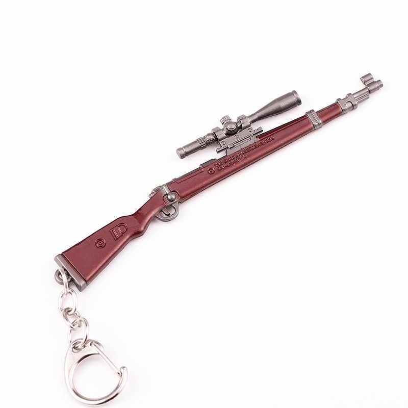 2019 ใหม่ PUBG ชุดคอสเพลย์พวงกุญแจ Movable กระเป๋าเป้สะพายหลัง Pan โลหะผสม Key Chain llaveros 98 K AWM Mini จี้ llaveros