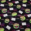 140X100cm Sesame Street Rubbish Bin Black Cotton Fabric For Baby Boy Cloth Sewing Bedding Set Hometextile