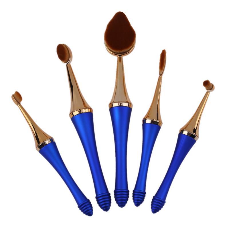 1/5 PCS Oval Toothbrush Foundation Powder Blush Makeup Brushes Set Pincel Maquiagem Make up Brushes Unique Luxury Cosmetic Gift цена и фото