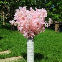 Wedding Decoration 160 heads Simulation Cherry Blossom Branch Fake Sakura Encrypted Ribbon Pear Tree Twig Flower