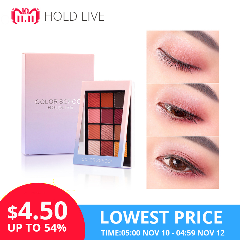 HOLD LIVE Color Focus Charm Show Red Eye Shadow Palette Nude Shadows Cosmetics Korean Makeup 12 Colors Pigment Glitter Eyeshadow 9 full colors shimmer matte eye shadow palette pigment glitter eyeshadow palettes nude shadows cosmetics korean makeup eyes