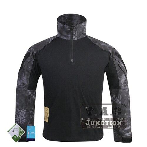 Цена за Эмерсон G3 Combat Shirt Тактический GEN3 GEN III С Длинным Рукавом Одежда Airsoft Армия Охота Тифон ТИП Камуфляж Футболка
