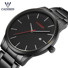 CADISEN Men Watch Top Luxury Brand Analog Sports Wristwatch Display Date Men's Quartz Watches Business Watch Relogio Masculino curren luxury brand nylon strap analog display date men s quartz watch casual watch men sport wristwatch relogio masculino w8195