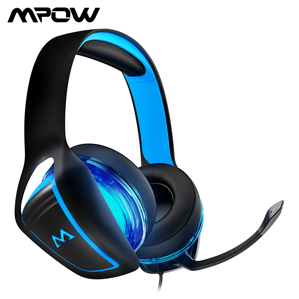 где купить Mpow EG1 Gaming Headset 7.1 Surround Sound Giming Headphones With 60mm Powerful Driver And Mic For PC Laptop Tablet Smartphone по лучшей цене