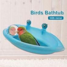 Parrot ванна для птицы птица аксессуары для ванны Птица зеркало для ванны вода для ванны клетка прекрасный зеленый Многофункциональный