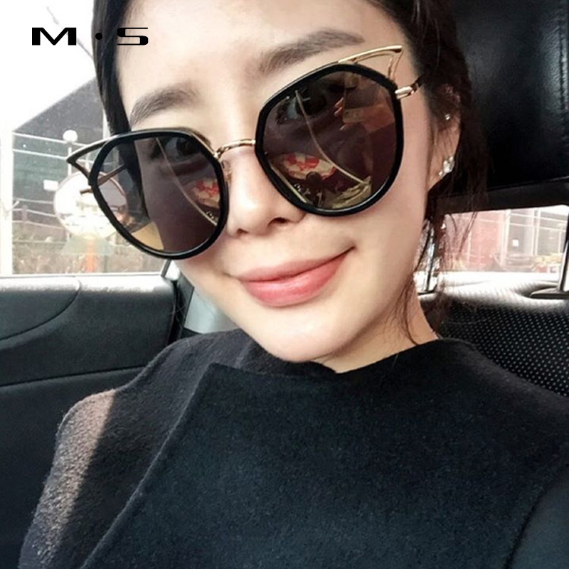 MS 2017 Female Sunglasses Brand cat eye Designer Sunglasses Summer Sun Glasses Fashion Women Classic Eyewear UV400