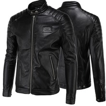 Good quality Men's Slim Motorcycle jackets New Fashion Male solid Leather & Suede Outwear Coats Jaqueta Leather clothing 4XL