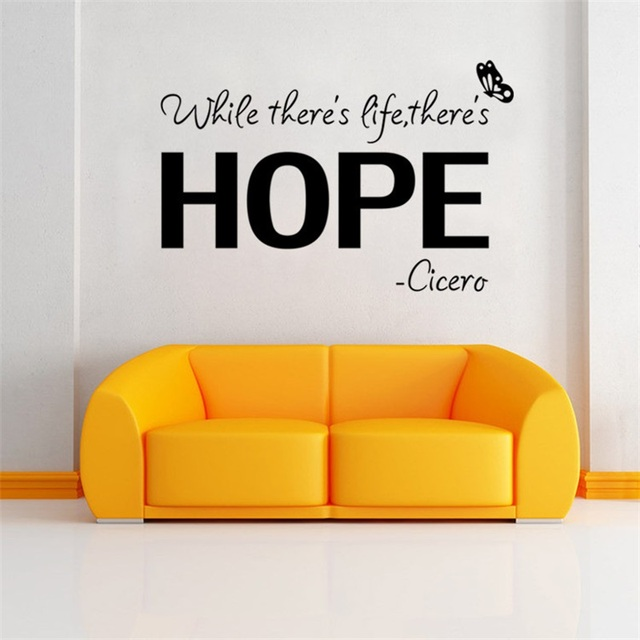Inspiration Quote While There S Life There S Hope Butterfly Floral
