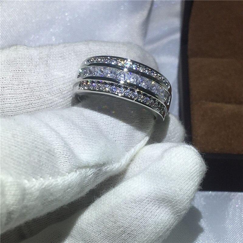 1c267328275c Venta caliente de la joyería de hombre anillo de 3mm 5A Zircon Cz ...
