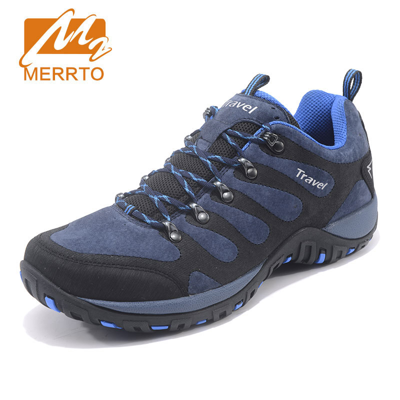 MERRTO New Hiking Shoes Male Outdoor Sports Shoes Antiskid Breathable Trekking Hunting Tourism Mountain Sneakers Climbing Shoes цена