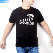 2016 New funny  t shirts men 100% cotton cool tshirt lovely cute summer jersey costume t-shirt Human evolution printing