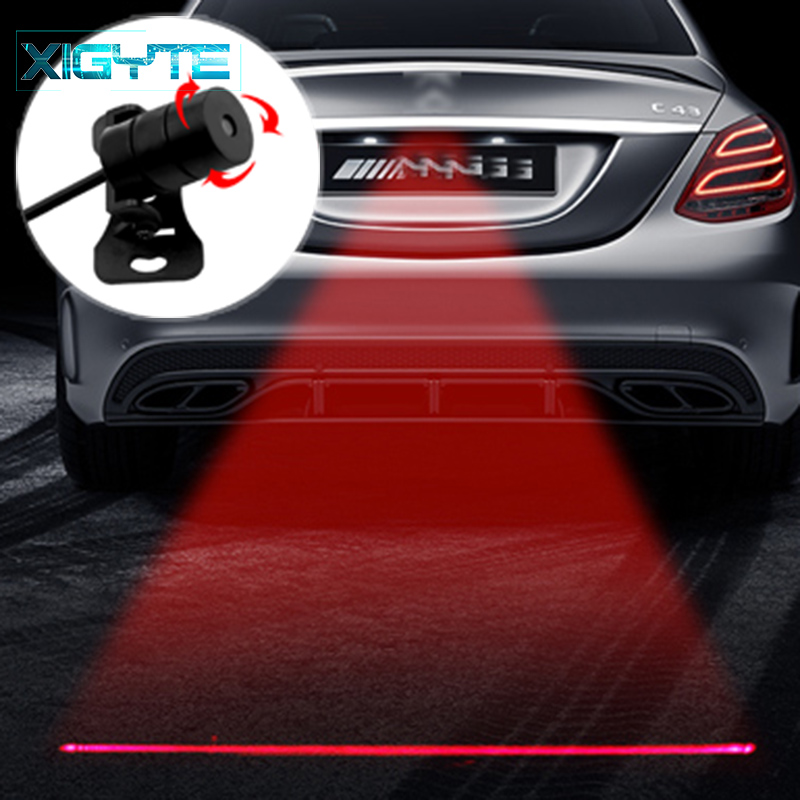 Car Laser Tail Fog Light Anti Collision Car Forlight Lamp Braking Parking Signal Warning Lamps Universal LED Rear Car Fog Light