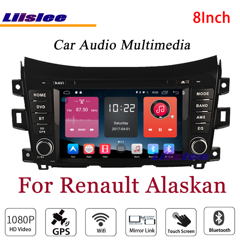 Liislee For Renault Alaskan Stereo Android Radio BT FM DVD Player GPS MAP Navigation 1080P HD Screen System Original NAV Design