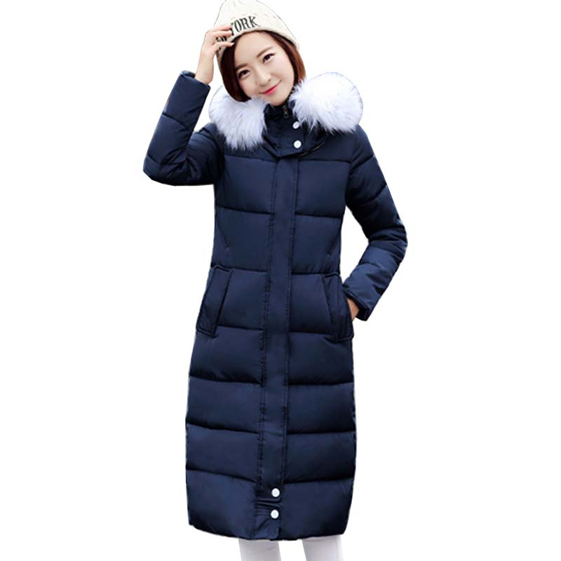 New Womens Winter Jackets Coats Thick Warm Hooded Down Cotton Padded Parkas For Women's Winter Jacket Female Femme size 3XL 5L45 black 2017 new parkas female winter coat jacket thick cotton down hooded coats turtleneck padded jackets womens outwear women