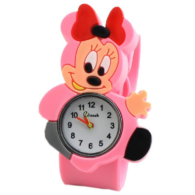 2018 New Cool Cartoon Q Version Of Children's Watch Multi-color Naughty Mickey Pattern Student Birthday Gift Pat Table