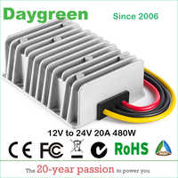 12V TO 24V 19V 3A 5A 8A 10A 15A 20A STEP UP BOOST DC DC CONVERTER VOLTAGE REGULATOR 28V CHARGER FOR LEAD-ACID Daygreen CE ROHS