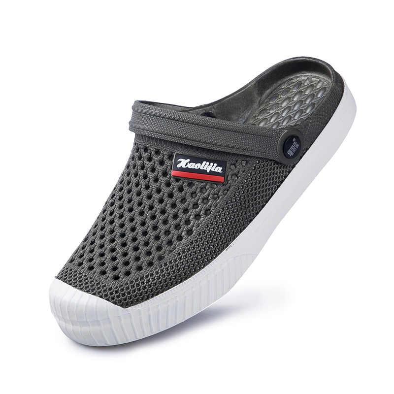 أحذية رجالية من Sapato Feminino موديل 2020 خالية من الرسوم الجمركية أحذية 6 ألوان من Croc صنادل رجالية بحزام صنادل صيفية للشاطئ ومياه للسباحة أحذية للرجال