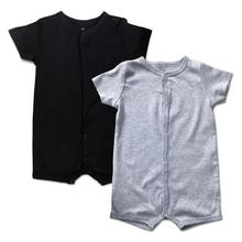 Toddler Newborn Boys Girls Solid Romper Short Sleeve Summer Infant Jumpsuit Outfits Clothes Baby One-Piece Snap Up Blanco Roupa hi bloom summer newborn toddler boys romper jacket tuxedo sets baby gentleman roupa infant jumpsuit de bebe kid s roupa clothes