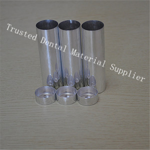 Image 4 - 200 Pieces/lot OD 25 MM Dental Lab Materials Empty Cartridges Making Dentures Teeth Mold Dental Empty Aluminum Tubes With Cover