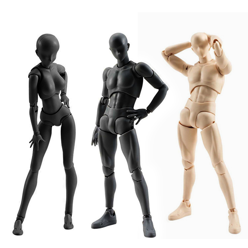 Body Kun Pale Gray Color 15cm 4 Styles 15cm Body Chan Figma Bandai SHF Ferrite PVC Action Figure Figma Models shfiguarts pvc body kun body chan body chan body kun grey color ver black action figure collectible model toy
