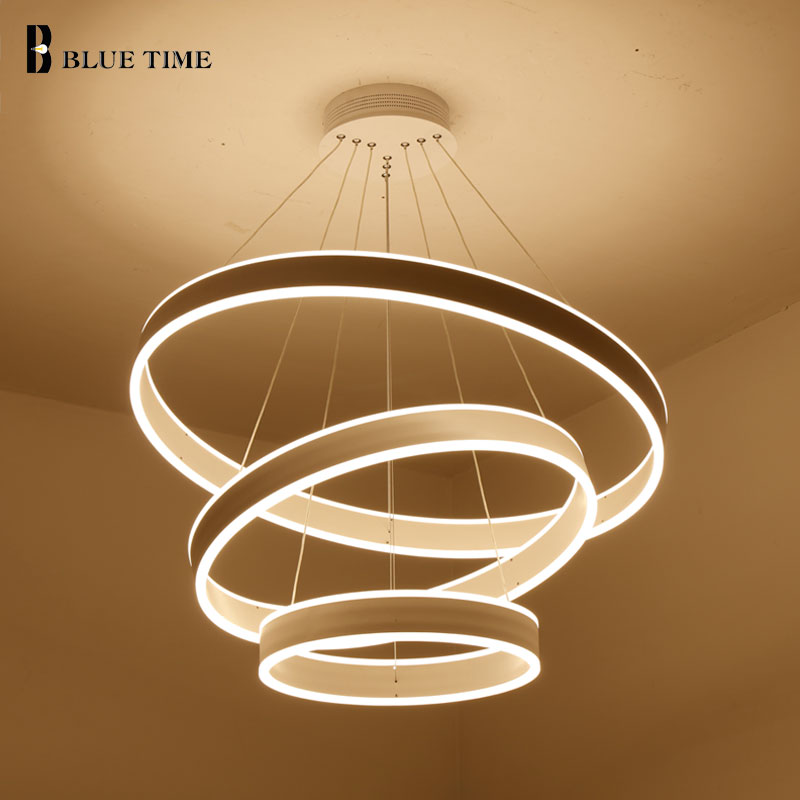 40CM 60CM 80CM Restaurant Modern LED Pendant Light Circle Rings Fashional Led Pendant Lamp For Dining Room Indoor Home Lighting mgpm80 225 smc type 80mm bore 225mm stroke smc thin three axis cylinder with rod air cylinder pneumatic air tools mgpm series
