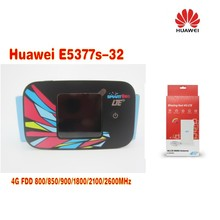 Huawei E5377s-32 150Mbps 4G LTE 3G Wifi Mobile Broadband Hotspot White +4G Signal Amplifier Antenna 49dBi TS9 For HUAWEI E5377