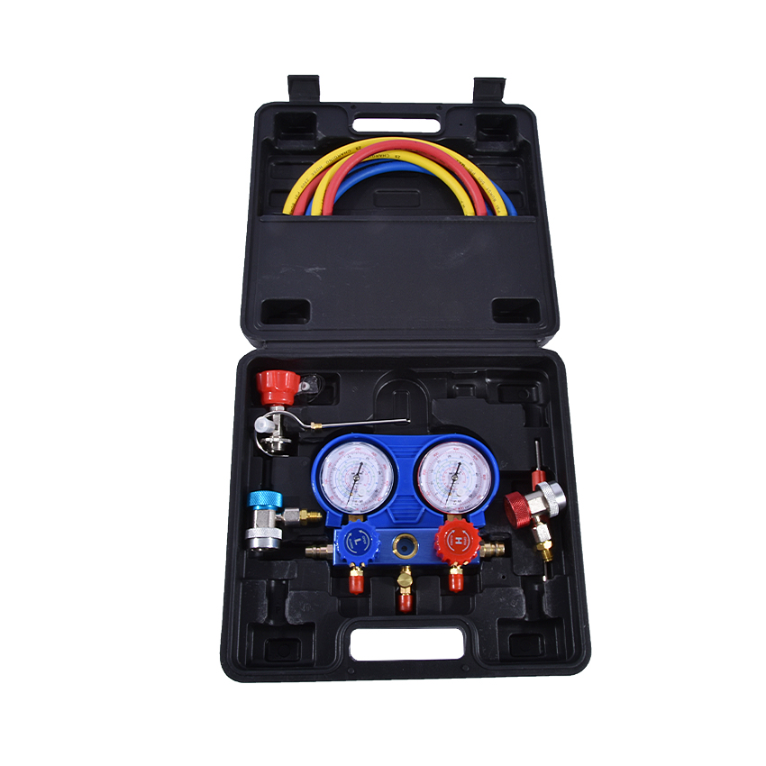 New PN-03TZ Air Conditioning Fluoride Tools Set Snow Refrigerant Pressure Double Table Valve R134a air Conditioning Repair Tool 2pcs air conditioning r134a valve core quick remover installer high low pressure tool