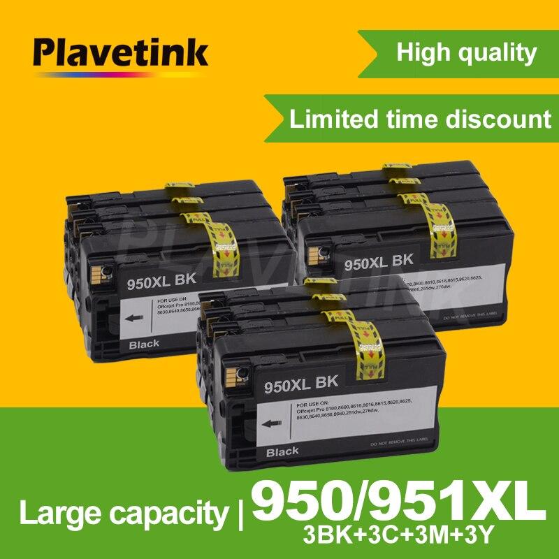 Plavetink 12 pièces Cartouche d'encre Compatible 950 951 XL pour HP Officejet pro 8100 8610 8620 8630 8600 8660 8640 8680 8615 Imprimante