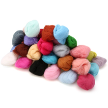 Wholesale Colorful Wool Fiber 3g 40 Colors/Bag Merino Felting Tops for Handmade DIY Needle & Wet