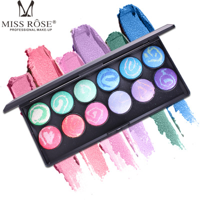 12 Colors Baked Eye Shadow Palette Eyeshadow Shadow Shade for Eyebrows Makeup Set Nude Eyeshadow Palette Maquiagem in Eye Shadow from Beauty Health