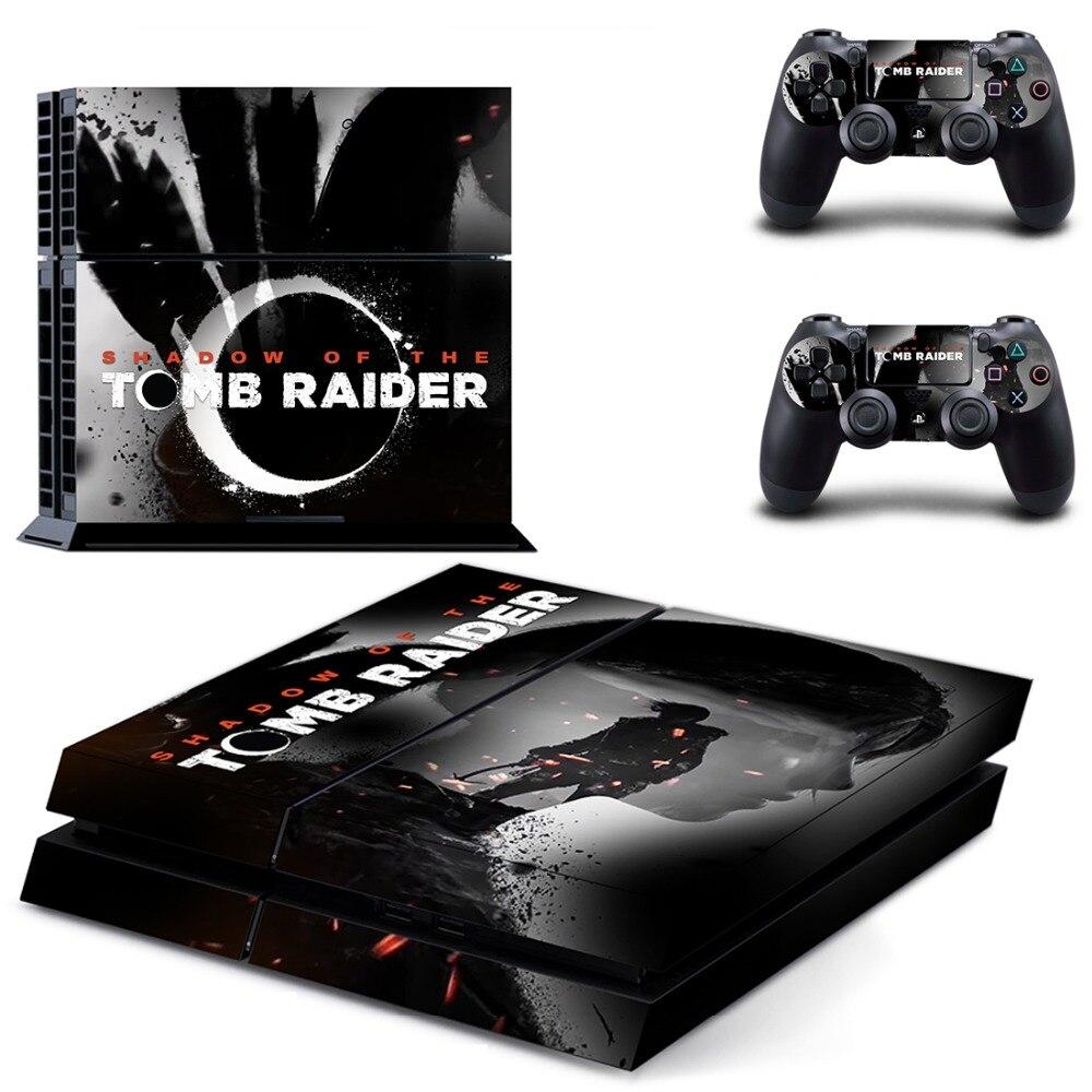 Shadow of The Tomb Raider PS4 Della Decalcomania Autoadesivo Della Pelle per PlayStation 4 Console e 2 pelli di controller PS4 Adesivi In Vinile accessorio