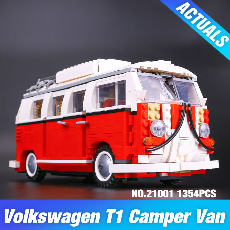 lepine Technic Series 10020 Classical T1 Camper Van Model Car Building Bricks LegoINGlys Educational Children Toy lepine 21001 eva teks 10020 2