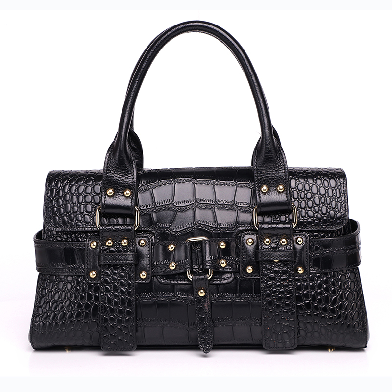 Women leather handbags 2017 new fashion aligator bag real genuine leather woman Top-handle bag high quality ladies pillow bags qiaobao 100% genuine leather handbags new network of red explosion ladle ladies bag fashion trend ladies bag