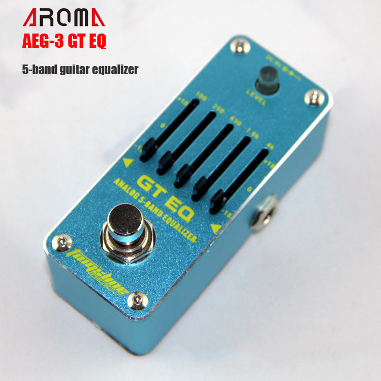 Effectors AROMA AEG-3 GT EQ  5-band Equalizer Effect Pedal for Guitar Mini Analogue Effect True Bypass Pedal aroma ach 1 true bypass guitar electric effect pedal chorus low noise metal effectors guitar parts