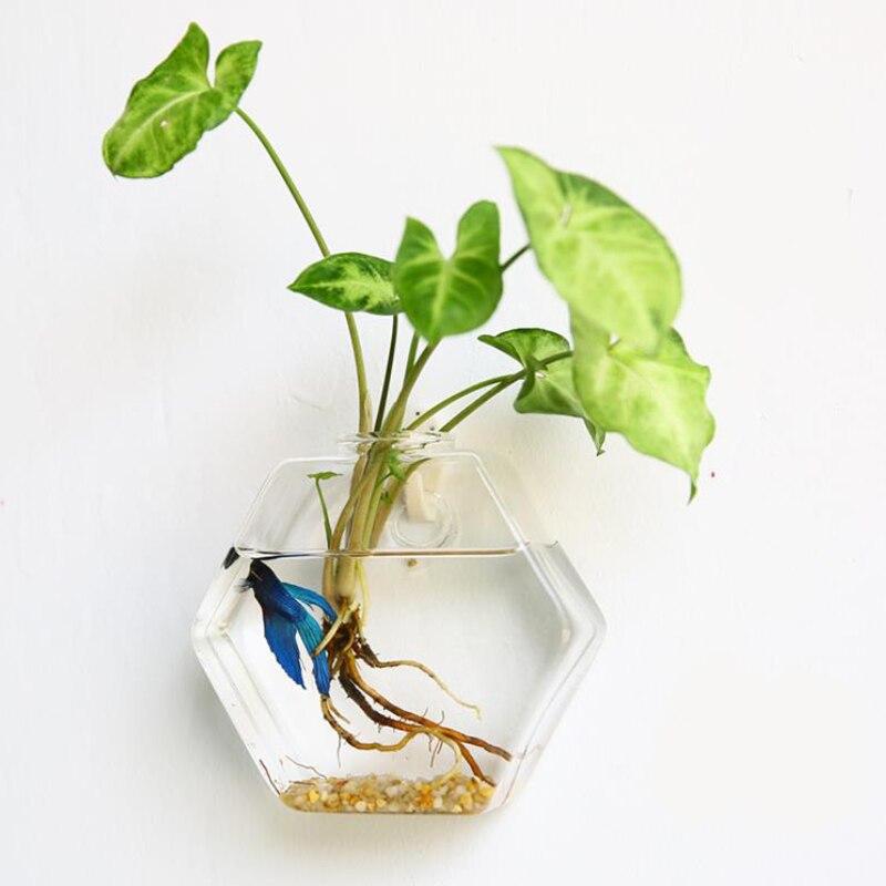 Творческий висит Стекло кашпо ваза Террариум Контейнер Главная Сад декора стены