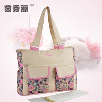 mommore Nylon Diaper Bags Large Totes Shoulder Bag with Changing Pad for Baby Mother Nappy Shoulder Bags Baby Stroller Bags