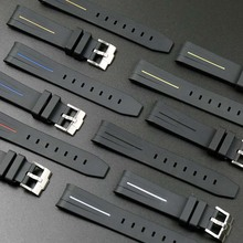 Mens silicone strap 20mm21mm for Rolex water ghost GMT rubber ladies sports waterproof buckle