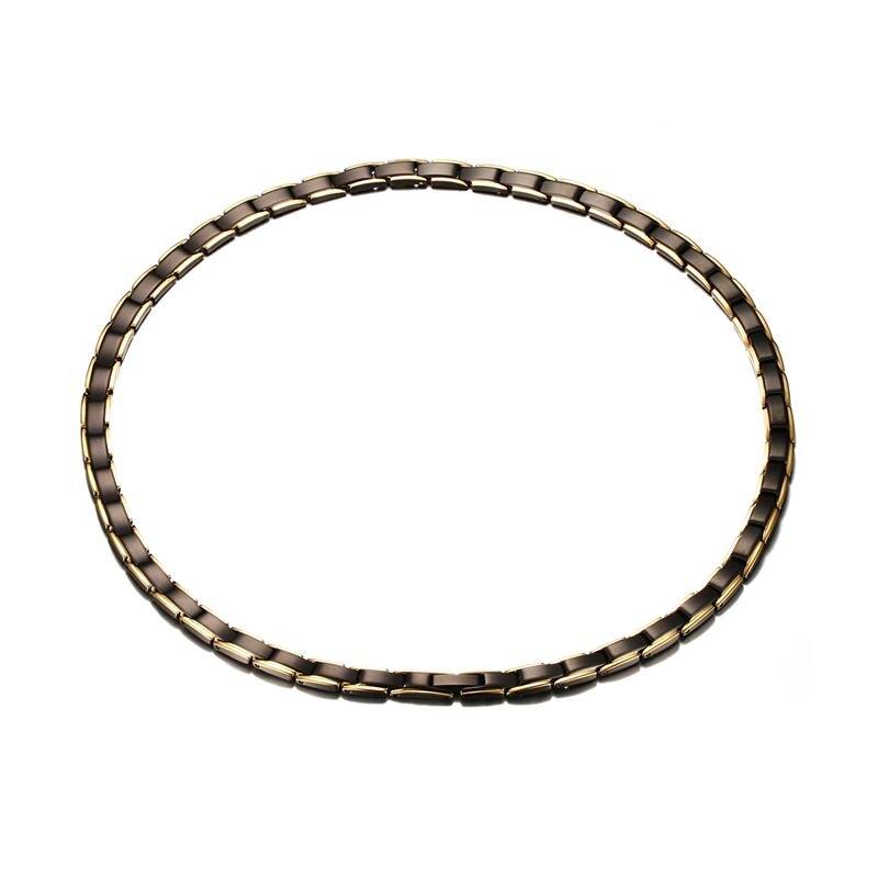 купить Mens Power Necklaces Stainless Steel Health Energy Magnetic Ion Germanium Necklace Pain Relief for Neck Arthritis collier Unisex по цене 1769.29 рублей